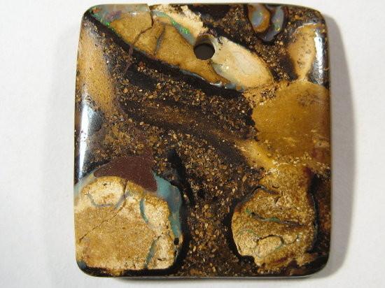 YowahOpals*21.15ct - Boulder Opal  ^ Drilled PENDANT^