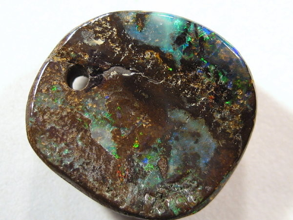 YOWAHOPALS*12.65ct   Opal - DRILLED for  PENDANT -