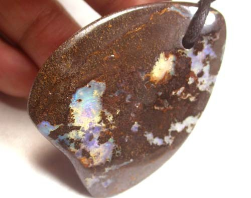 119 CTS [BM]LARGE OPAL PENDANT /STRAP-GREAT POLISH [FPJ1262 ]