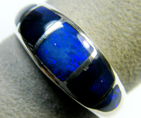 BEAUTIFUL OPAL INLAY RING SIZE 7 SCA1756
