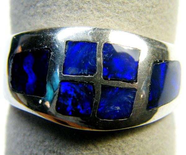 BEAUTIFUL OPAL INLAY RING SIZE 7.5 SCA1767