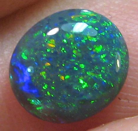 GEMMY GREEN FIRE ELECTRIC DOME SOLID CUT STONE 1.05 CTS A234