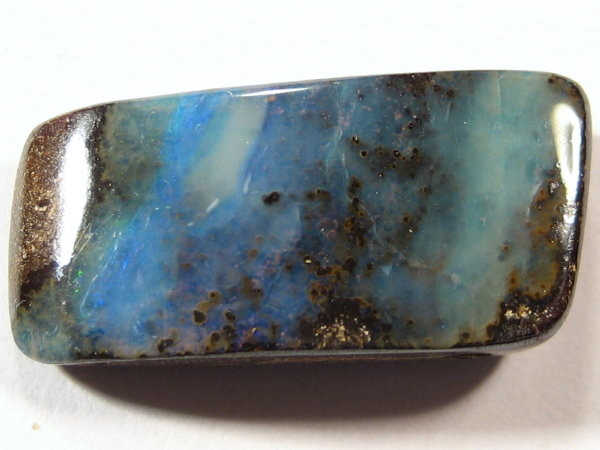 YOWAHOPALS*12.75ct Blue Boulder Opal - DRILLED OPAL