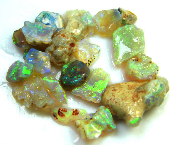 REDUCED 30% LARGE PARCEL CRYSTAL OPALS 27.70 CTS QO 3101