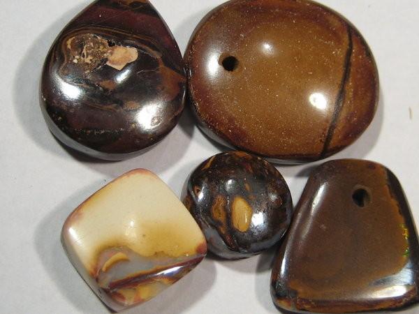 YOWAHOPALS*54.80ct Boulder Opal - PARCEL  -Drilled-