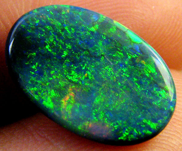 STUNNING MULTI SHIMMER FIRE BLACK OPAL 3.05 CTS  R 1934