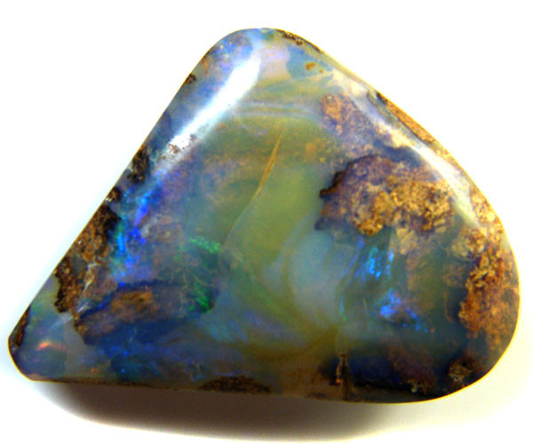 DOUBLE SIDED  OPAL BLUE GREEN  13  CARATS  QO 3136