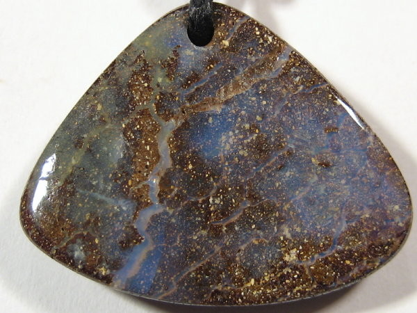 YOWAHOPALS*26.05ct Boulder Opal-PENDANTwith Black Leather