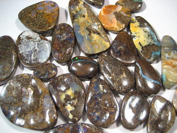 YowahRough- 489.15ct -22 stones: Aust. Boulder Opal -PARCEL