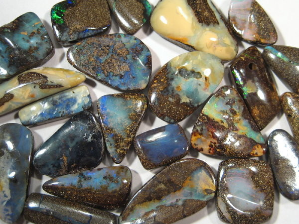YowahRough-261.30cts-22 stones: Aust. Boulder Opal -PARCEL