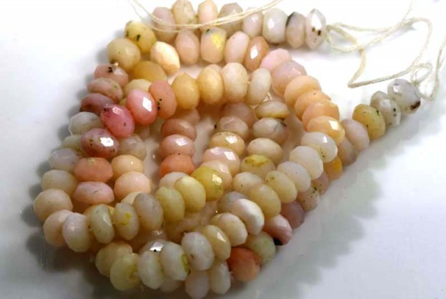 74 CTS OPAL  PINK OPAL FACETED   BEADS TBO- 3727
