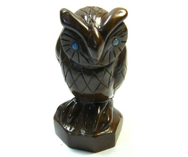 BOULDER  OPAL OWL  CARVING   820 CTS  SG973