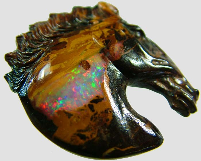 75 CTS BOULDER HORSE CARVINGS-HIGHLY POLISHED  [BMA1407]
