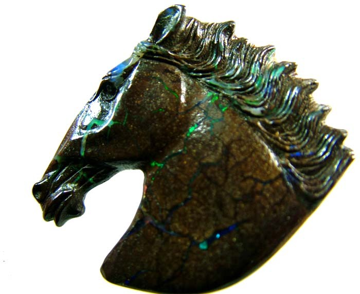 54 CTS  BOULDER HORSE CARVINGS-HIGHLY POLISHED[BMA1421]