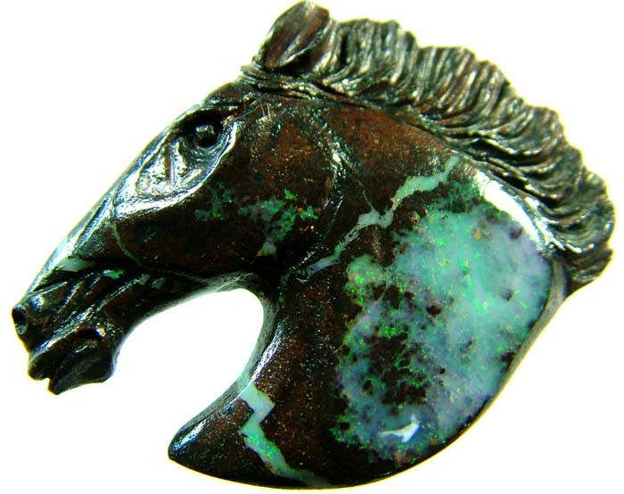 74 CTS BOULDER HORSE CARVINGS-HIGHLY POLISHED  [BMA1422]