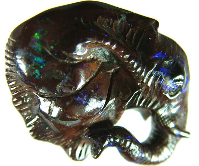 41 CTS BOULDER ELEPHANT CARVINGS-HIGHLY POLISHED  [BMA1443]