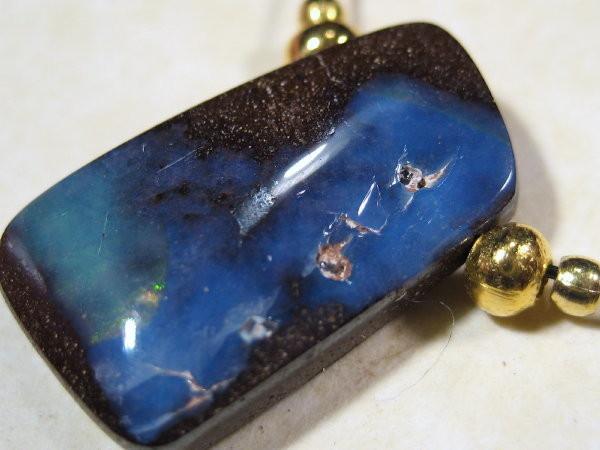YOWAHOPALS*9.90ct Necklace --- Natural Boulder Opal-
