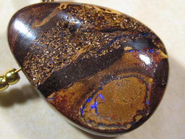 YOWAHOPALS*23.00ct Necklace --- Natural Boulder Opal-