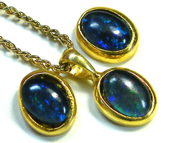 7x5 MM  TRIPLET SET  EARRINGS AND PENDANT  SCA1992