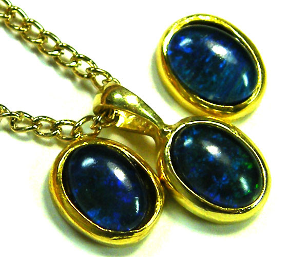 7x5 MM  TRIPLET SET  EARRINGS AND PENDANT  SCA1993