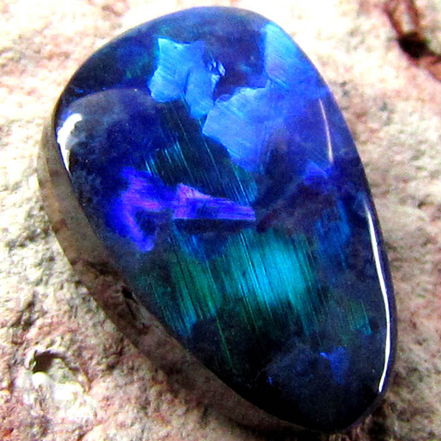 VIDEO BOULDER OPAL NATURAL ELECTRIC BLUE 3.70CT  C460