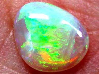 GREEN BLAZE GORGEOUS BLACK CRYSTAL OPAL .85 CTS B184