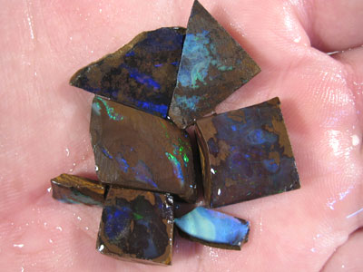 # 87 CTS BOULDER OPAL RUB PARCEL 7 PCS READY FOR CUTTING