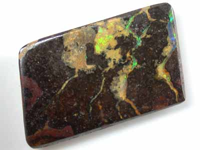FREE SHIPPING BOULDER OPAL GREEN FLASH  26.60CT GR568