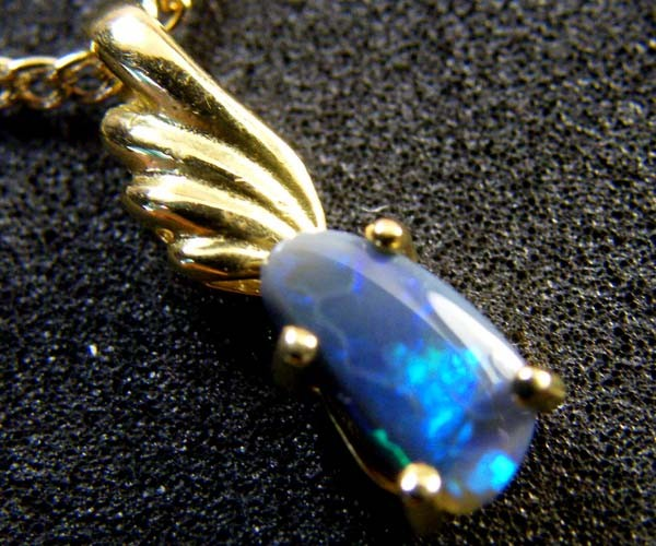 BLACK OPAL 18K GOLD PENDANT 0.70 CTS  SCA 2114