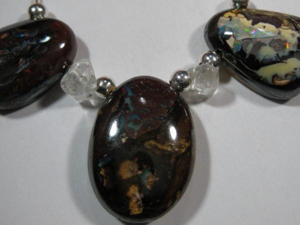 YOWAHOPALS*36.15ct Necklace --- Natural Boulder Matrix Opal-