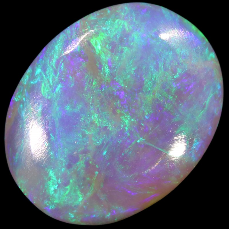 CABOCHON CRYSTAL BLUE GREEN PERFECT JEWELLERY STONE 3.10 CTS A627