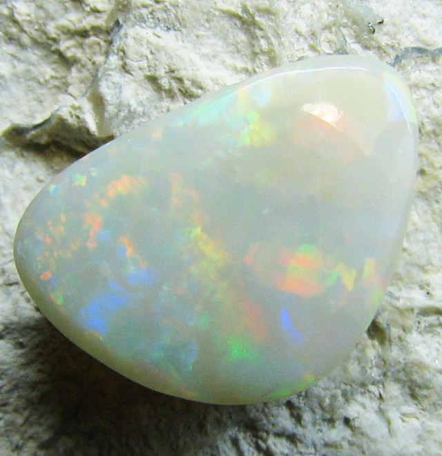 PASTEL RED  MULTI COLOR FIRE CUT BLACK OPAL 1.75 CTS A629