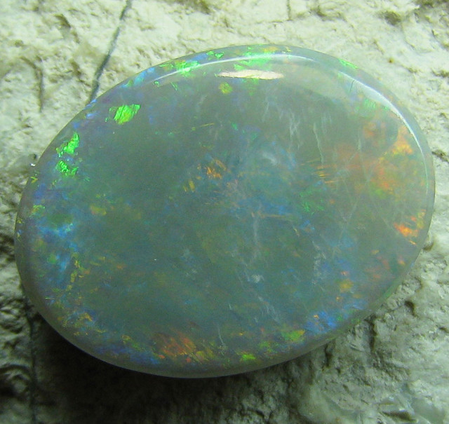 MULTI COLOR SOLID OVAL CUT BLACK OPAL 4.60 CTS A633