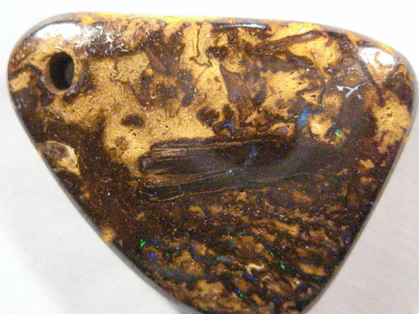 YowahOpals*17.35Cts Boulder Opal Drilled - Pattern stone.