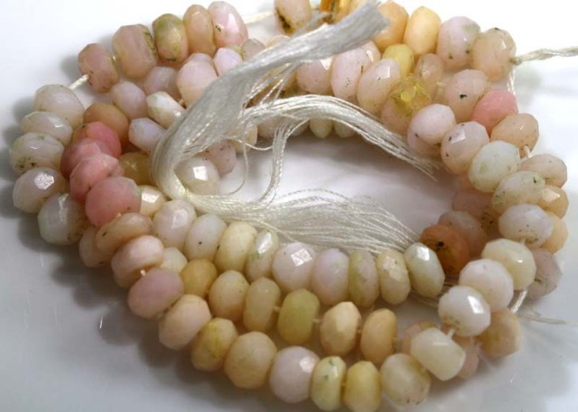 90 CTS  OPAL  FACETED PINK OPAL BEADS TBO-3728