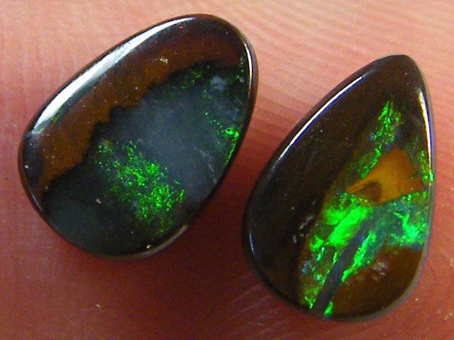FREE SHIPPING GEM PAIR BOULDER OPAL 2.15 CARATS   MY955