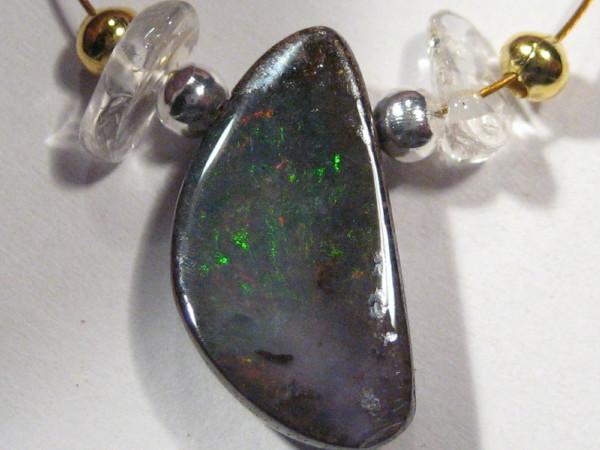 YOWAHOPALS*8.95Cts Necklace- Natural 'BOULDER' Opal-