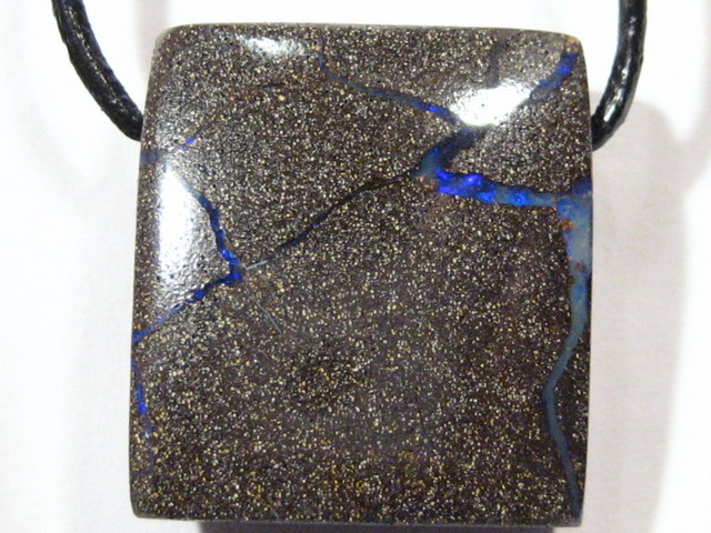 YowahOpals*22.05Cts 'Aussie' Boulder Opal - Leather Cord -