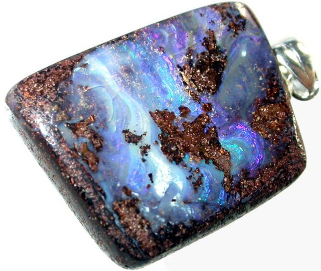 22 CTS BOULDER OPAL PENDANT WITH SILVER BAIL  [BMP2302 ]