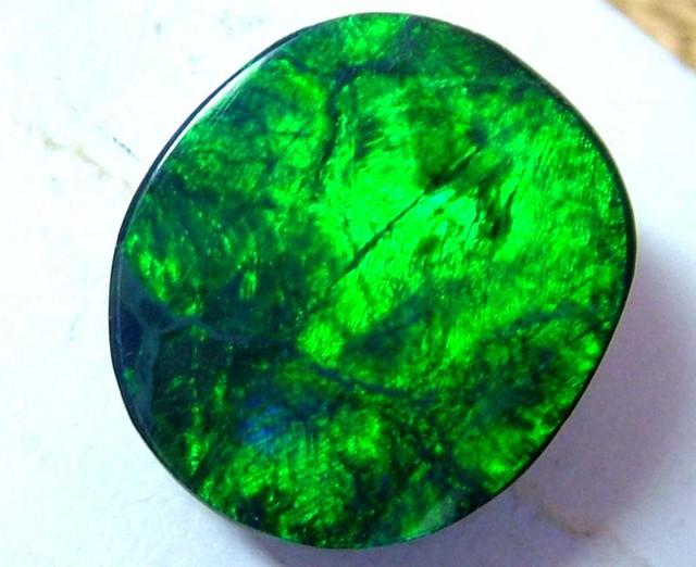 ELECTRIC GREEN BLACK OPAL L RIDGE 6.5CTS  AS-846