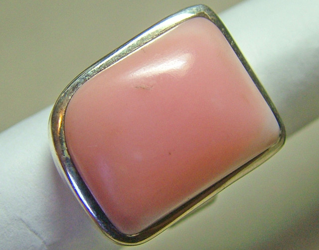 59 CTS PINK OPAL SILVER RING   TBO-7728