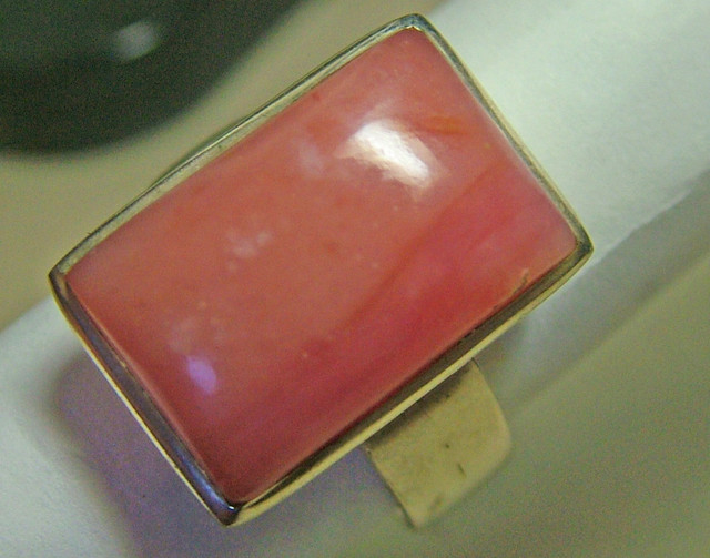 PINK OPAL SILVER RING  50 CTS  SIZE- 8 AS-1010