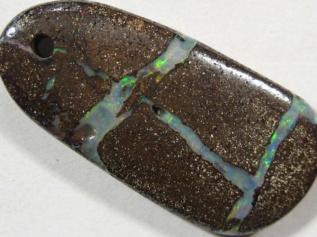 YowahCut- 15.70Cts Australian-BOULDER OPAL Drilled  Pendant