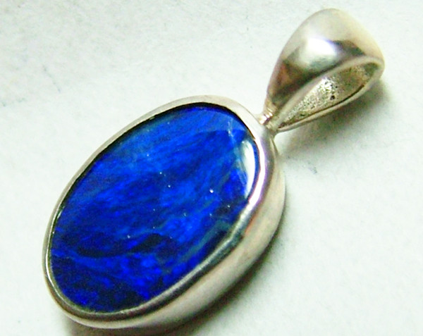 HIGH QUALITY DOUBLET OPAL PENDANT/SILVER   8CTS AS-1062