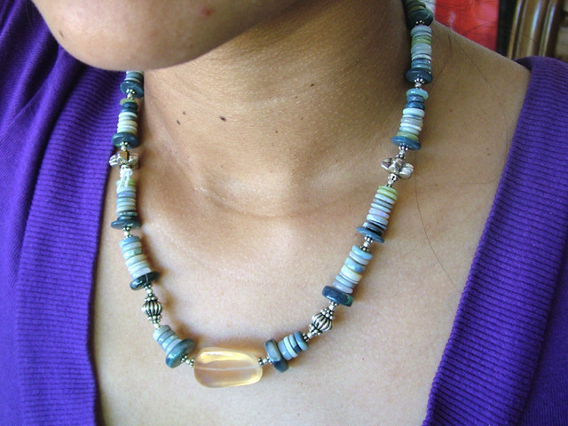 245 CTS OPAL BEADS NECKLACE DESIGNER PC  TBO-7428