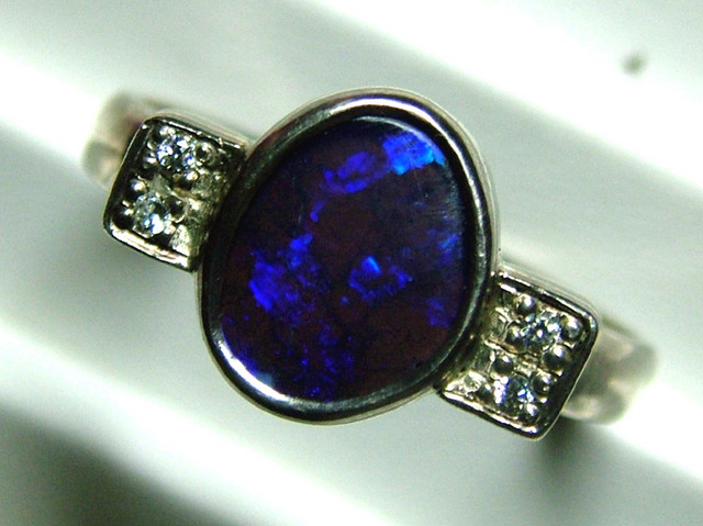 29 CTS BOULDER OPAL MENS RING SIZE 14.5 STERLING SILVER LO-4338