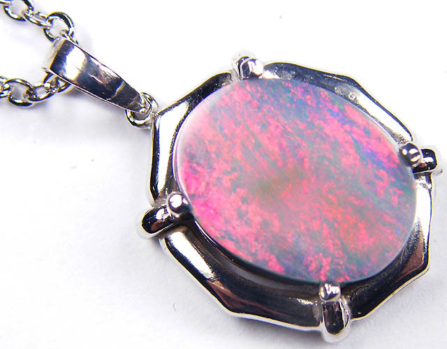 RED FIREFLASH SOLID BLACK OPAL GOLD PENDANT SCO138