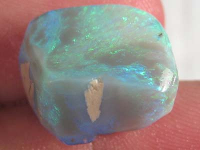 # 19.90 CTS BLACK OPAL CUBE READY FOR CUTTING UNIQUE