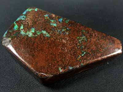 GREEN SHIMMER FLASH SOLID BOULDER OPAL 164 CTS GR979