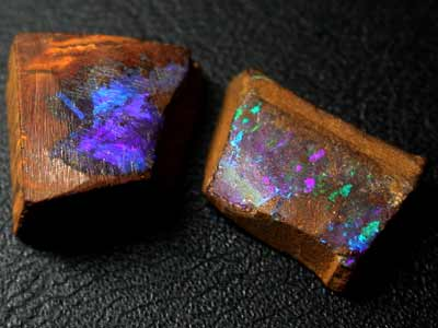 FANTASTIC RICH COLOURS ROUGH BOULDER OPALS 12.90 CTS GR997
